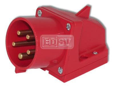 CEE Wandgerätestecker Einspeisung bis 16 Ampere 5polig 400 Volt