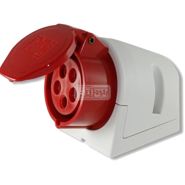 Cee Steckdose Bis 16 Ampere 5polig 400 Volt Rot Grau