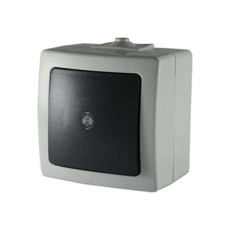 Aufputz- Schalter IP44 - Taster